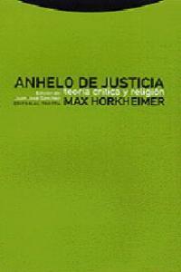 ANHELO DE JUSTICIA: portada