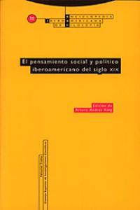 EL PENSAMIENTO SOCIAL Y POLíTICO IBEROAMERICANO DEL SIGLO XI: portada