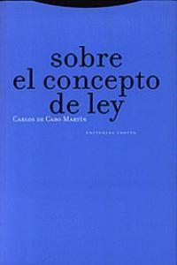 SOBRE EL CONCEPTO DE LEY: portada