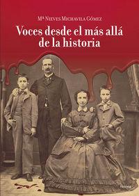 VOCES DESDE EL MÁS ALLA DE LA HISTORIA: portada