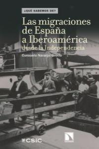 MIGRACIONES DE ESPAÑA A IBEROAMERICA DESDE LA INDEPENDENCIA: portada