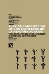 PLAN DE CAPACITACION DE LOS ASESTADOS DE LA REFORMA AGRARIA: portada