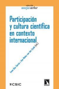 Participación y cultura científica en contexto internacional: portada