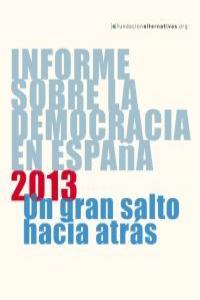 Informe sobre la Democracia en España 2013: portada