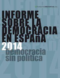Informe sobre la Democracia en España 2014: portada
