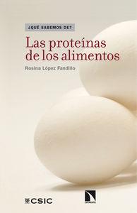Las proteínas de los alimentos: portada