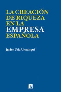 LA CREACIÓN DE RIQUEZA EN LA EMPRESA ESPAÑOLA: portada