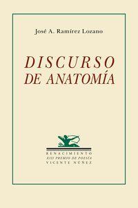 Discurso de anatomía: portada