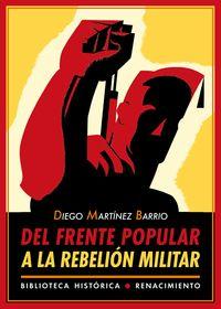 Del Frente Popular a la rebelión militar: portada
