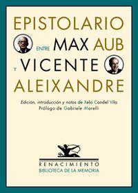 Epistolario entre Max Aub y Vicente Aleixandre: portada
