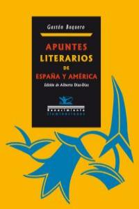 APUNTES LITERARIOS DE ESPAÑA Y AMERICA: portada
