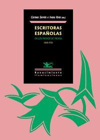 Escritoras españolas en los medios de prensa. 1868-1936: portada