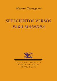 Setecientos versos para Maindra: portada