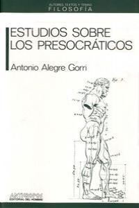 ESTUDIOS SOBRE LOS PRESOCRATICOS: portada