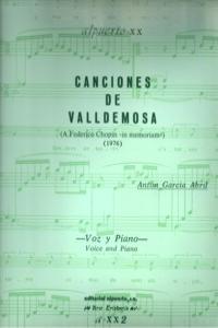 CANCIONES DE VALLDEMOSA 2�ED: portada