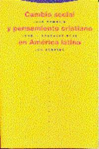 CAMBIO SOCIAL Y PENSAMIENTO CRISTIANO EN AMéRICA LATINA: portada