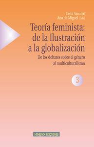 TEORÍA FEMINISTA 3 - DE LOS DEBATES SOBRE EL GÉNERO AL MULT.: portada