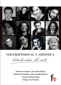 VOZ PROFESIONAL Y ARTÍSTICA.PARTICULARIDADES DEL CANTO: portada