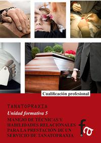 MANEJO DE TÉCNICAS Y HABILIDADESRELACIONALES PARA LA PRESTAC: portada