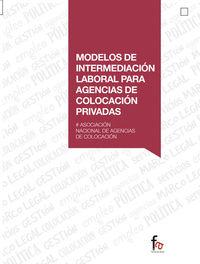 MODELOS DE INTERMEDIACION LABORAL PARA AGENCIAS DE COLOCACIO: portada