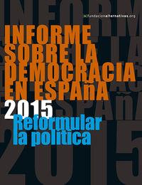 Informe sobre la Democracia en Espa�a 2015: portada