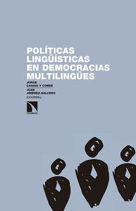 Políticas lingüísticas en democracias multilingües: portada