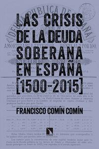 Las crisis de la deuda soberana en España (1500-2015): portada