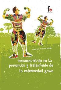 INMUNONUTRICIÓN EN LA PREVENCIÓN Y TRATAMIENTO DE LA ENFERME: portada