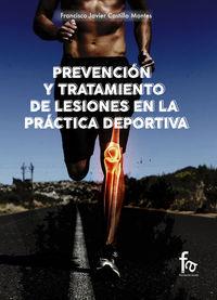 PREVENCIÓN Y TRATAMIENTO DE LESIONES EN LA PRÁCTICA DEPORTIV: portada