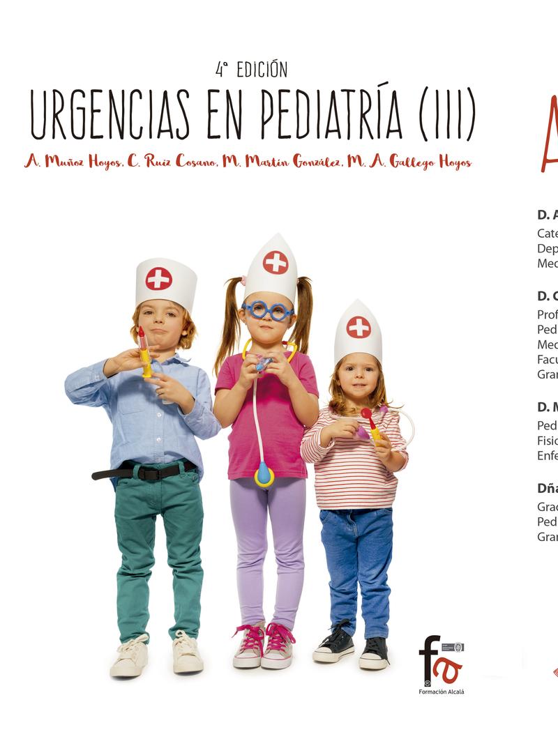 """URGENCIAS EN PEDIATRÍA (III)""""(4ª edición): portada"""