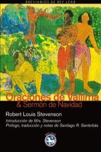 ORACIONES DE VEILIMA Y SERMON DE NAVIDAD: portada