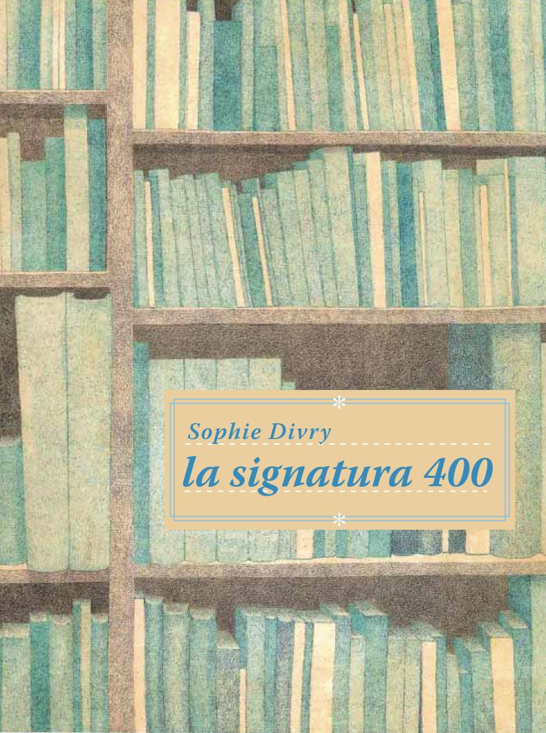 La signatura 400: portada