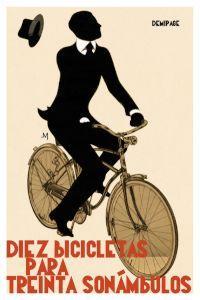 Diez bicicletas para treinta sonámbulos: portada