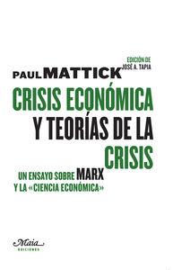 CRISIS ECON�MICA Y TEOR�AS DE LA CRISIS: portada