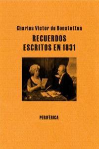 Recuerdos escritos en 1831: portada