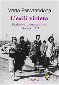 L'exili violeta: portada