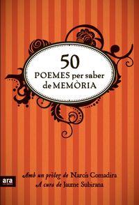 50 POEMES PER SABER DE MEMORIA - CAT: portada