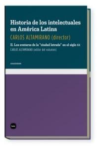 HA.DE LOS INTELECTUALES EN AMERICA LATINA II: portada