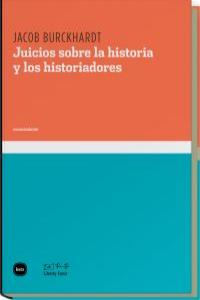 Juicio sobre la historia y los historiadores: portada
