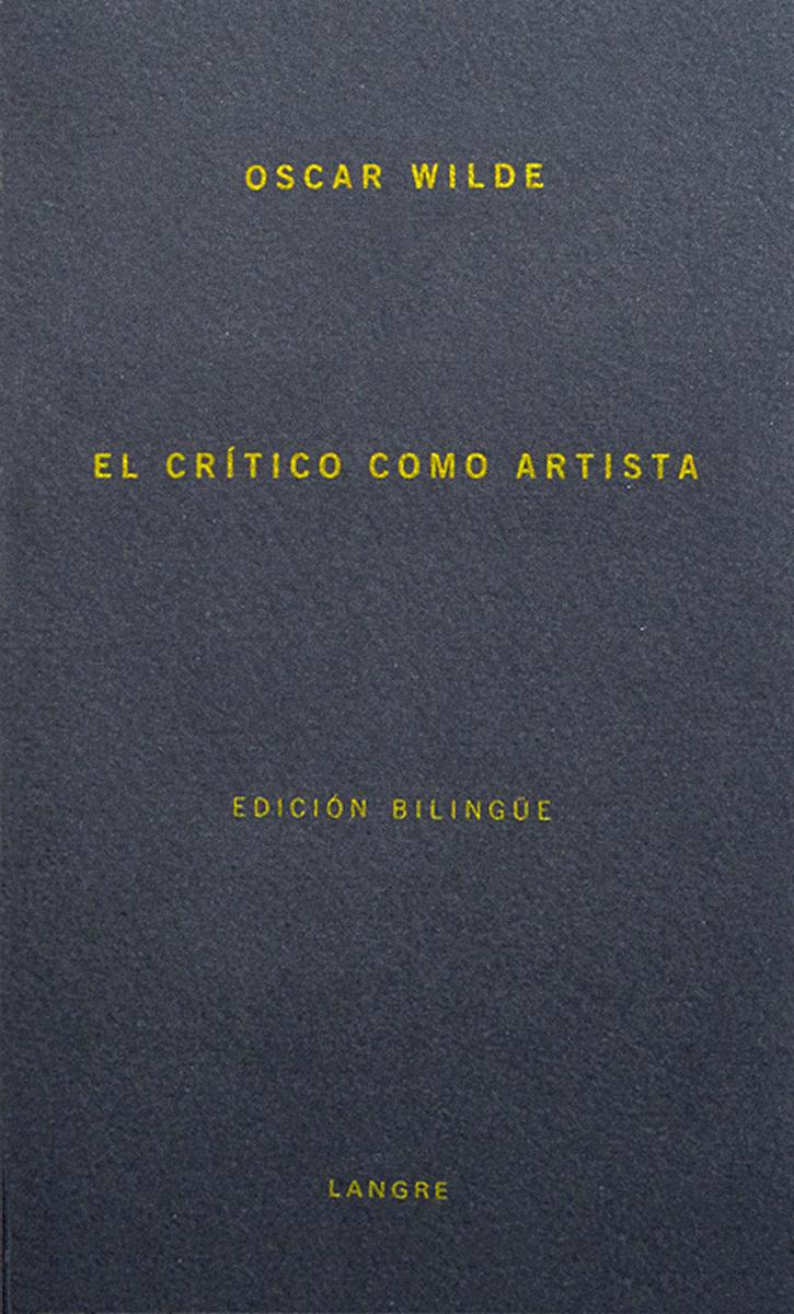 CRITICO COMO ARTISTA,EL: portada