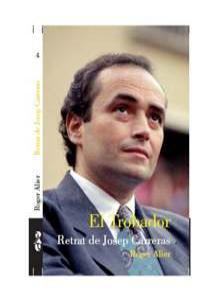 TROBADOR EL RETRAT DE JOSEP CARRERAS: portada