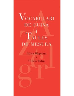 VOCABULARI DE CUINA I TAULES DE MESURA: portada
