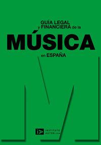Guía legal y financiera de la música en España: portada