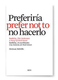 Bartleby, el escribiente/ The scrivener: portada