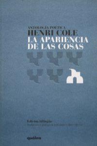 APARIENCIA DE LAS COSAS,LA: portada