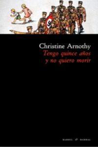TENGO QUINCE AÑOS Y NO QUIERO MORIR: portada