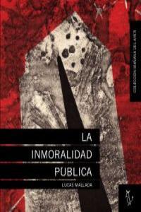 LA INMORALIDAD PUBLICA: portada
