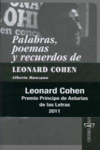 PALABRAS POEMAS Y RECUERDOS DE LEONARD COHEN 3ªED: portada