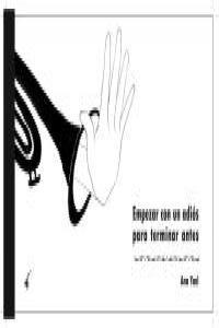 EMPEZAR CON UN ADIOS PARA TERMINAR ANTES: portada