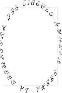 La desmesura del círculo/La démesure du cercle: portada